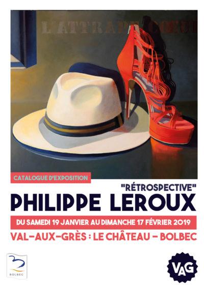 Couverture Catalogue d'exposition Retrospectie Philippe Leroux